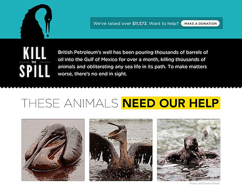 Clean Animals Affected by oil spill